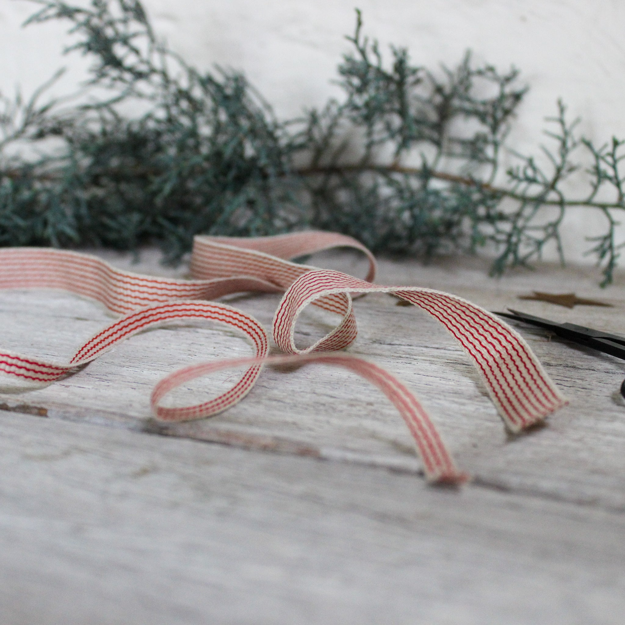 Striped Linen Ribbon