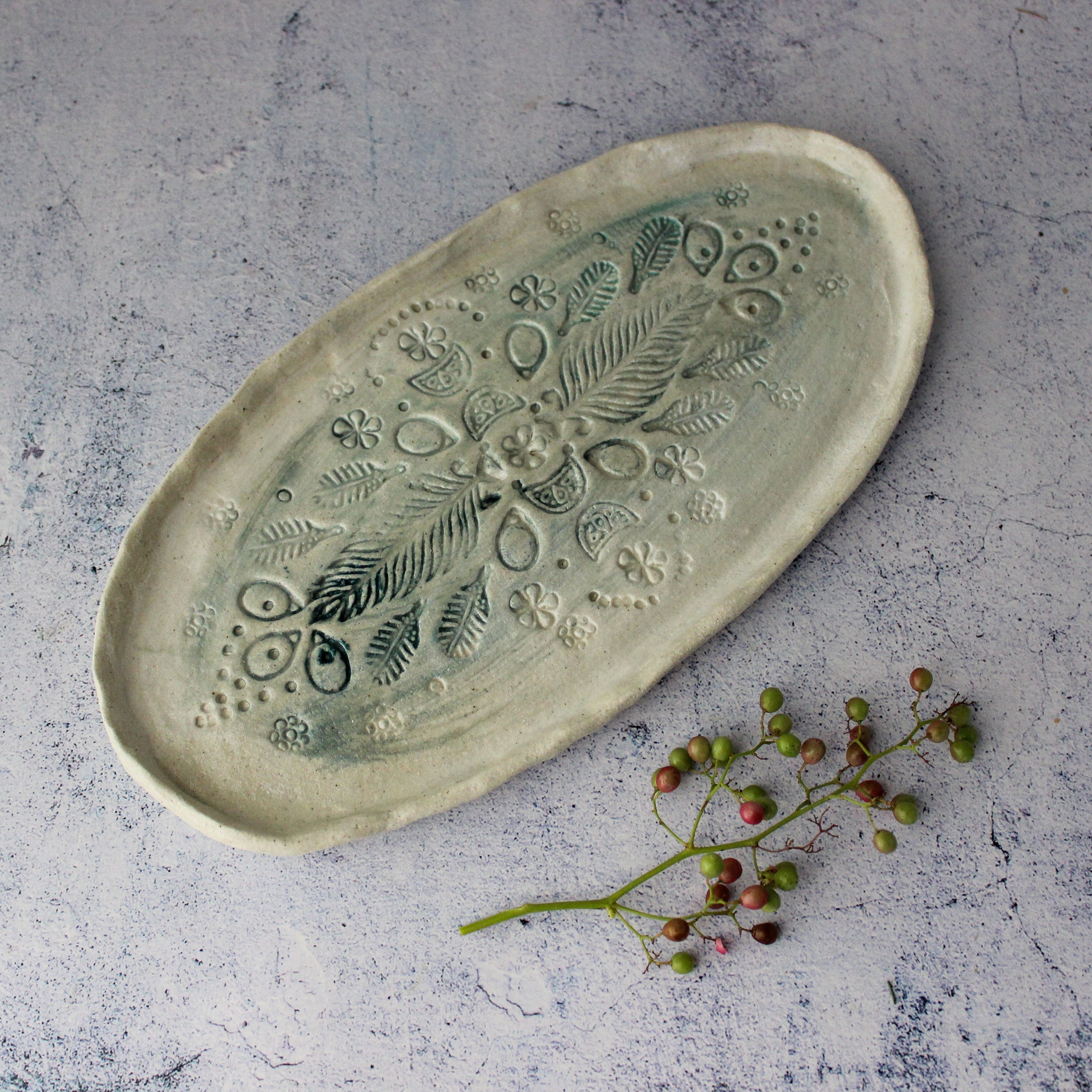 Large Lace Ceramic Tray #5