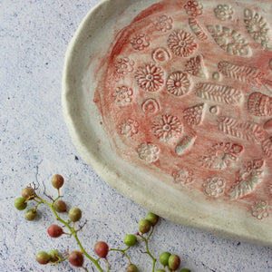 Small Lace Ceramic Tray