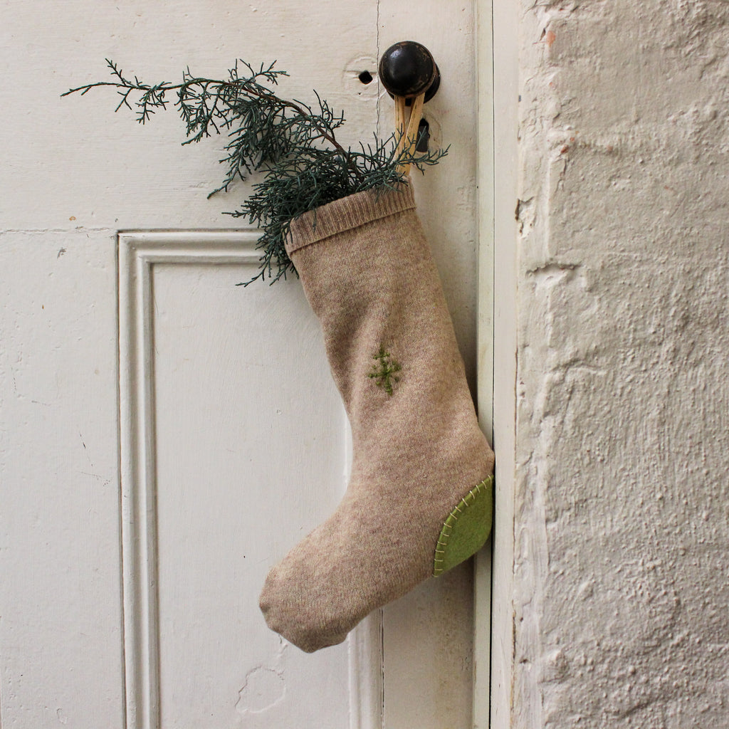Handmade Christmas Stocking : Rustic