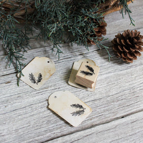 Pine Branch Rubber Stamp