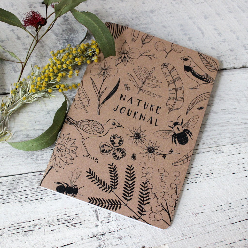Nature journal handmade by Nicole Berlach