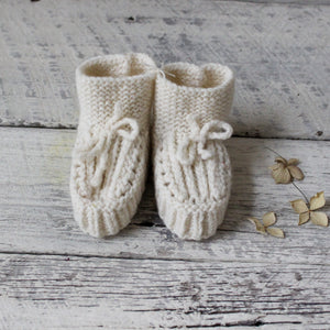 Pure New Wool Baby Booties