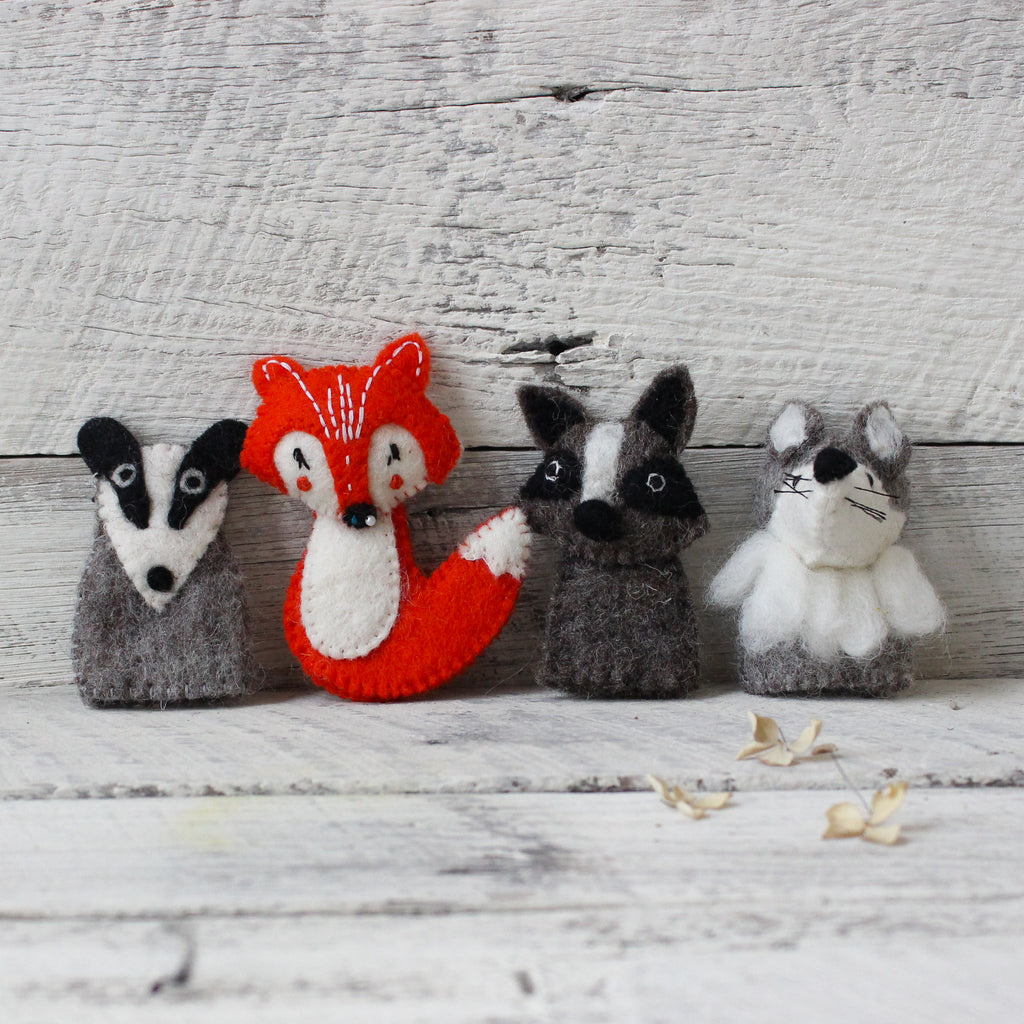 Woodland Animal Finger Puppets