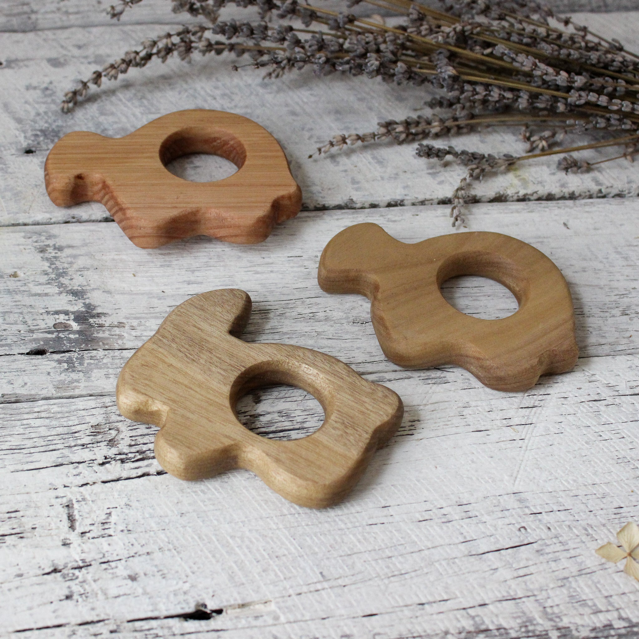 Handcrafted Wooden Baby Teethers