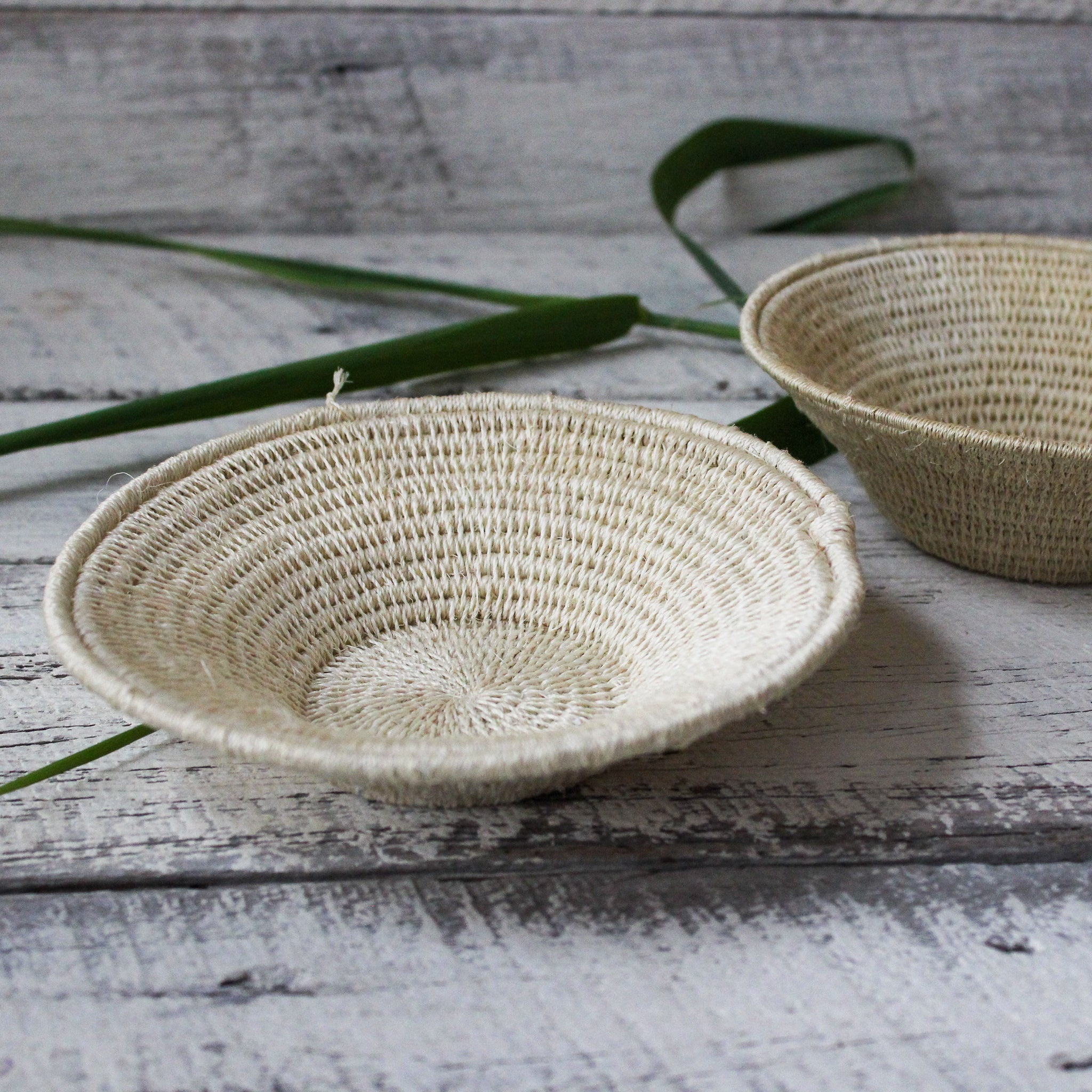 Small Woven Sisal Baskets