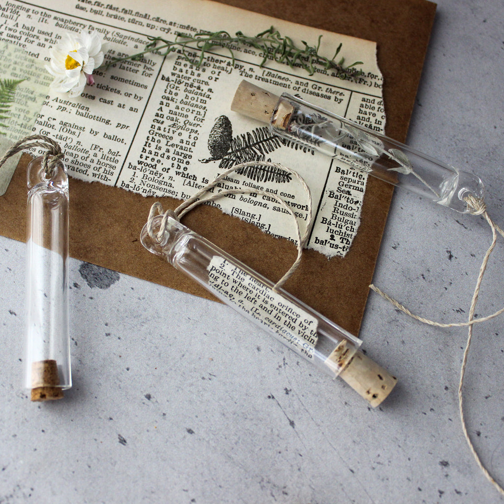 French Vintage Style Glass Tubes