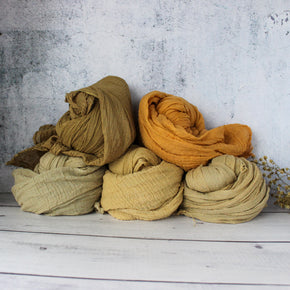 Natural Dyed Muslin Scarves : Warm Collection