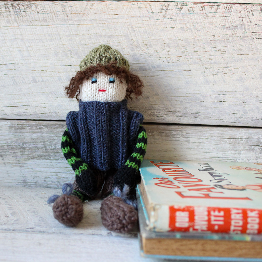 Hand Knitted Charlie Doll