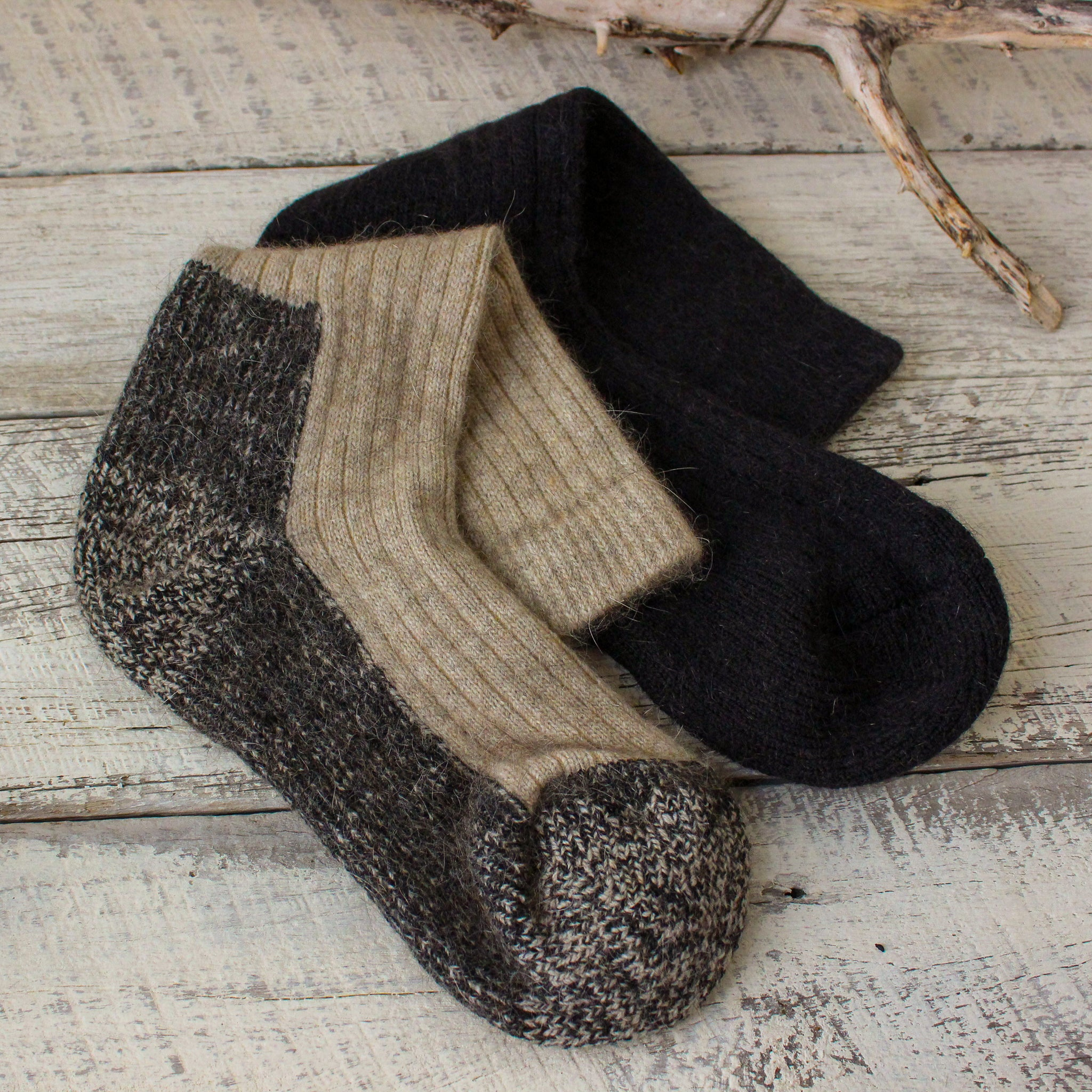 Possum Boot Trekker Socks Black