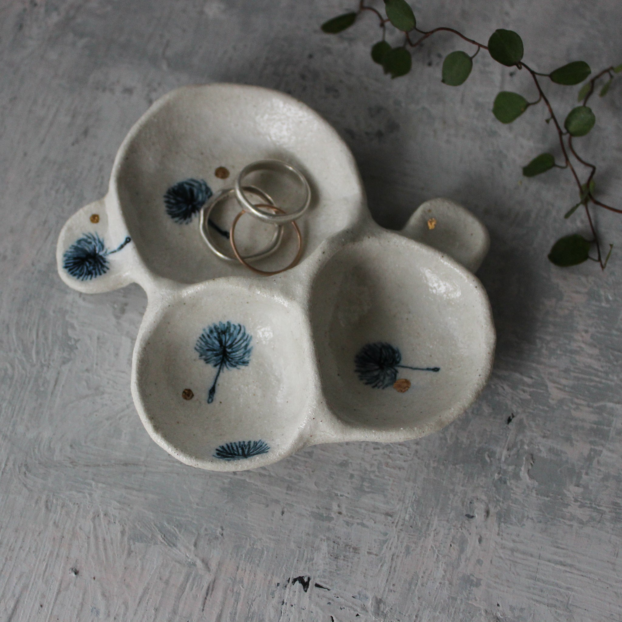 Little Porcelain Feather Vases