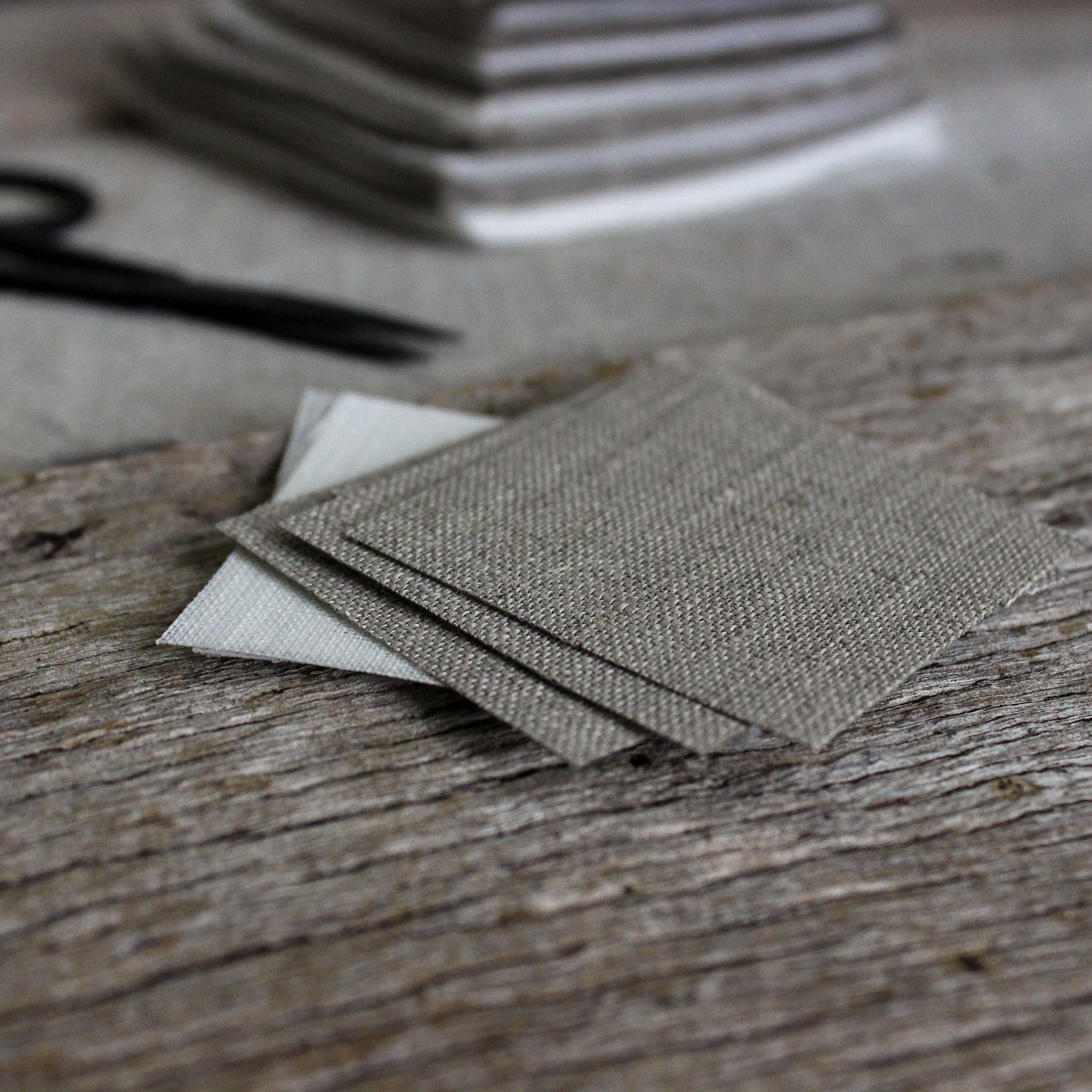 Linen Remnants : Natural Fabric Pieces