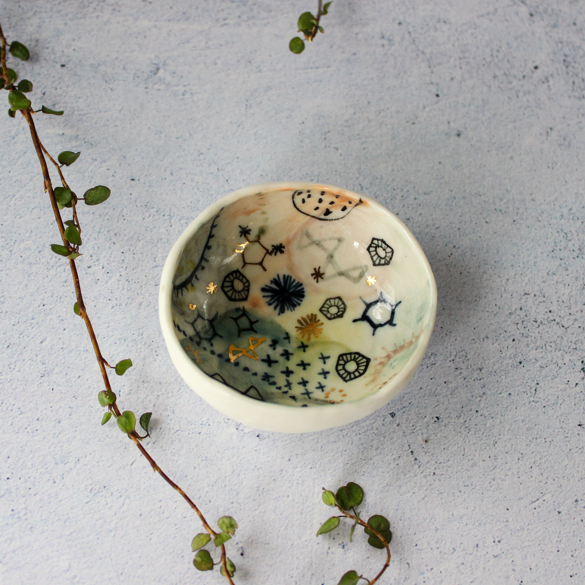 Stars & Cells Porcelain Dishes Series II