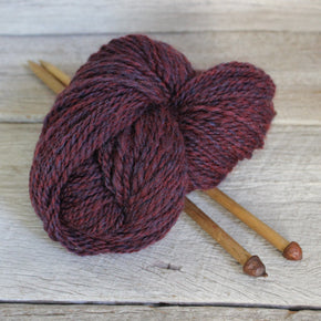Handspun Yarn - burgundy
