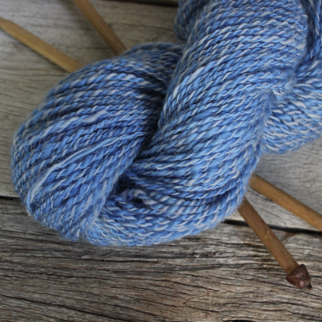 Handspun Yarn - Blue/Grey Variegated