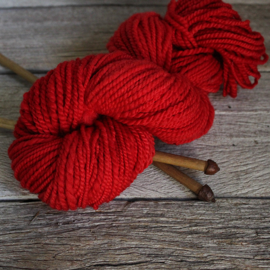 Handspun Yarn - red 110g