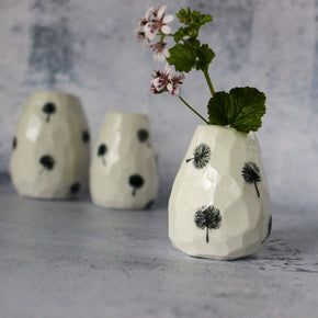 Faceted Dandelion Vases