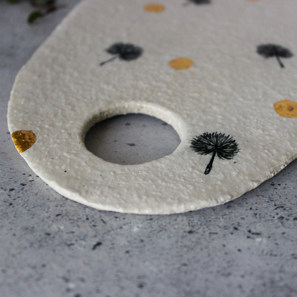 Dandelion Ceramic Serving Boards