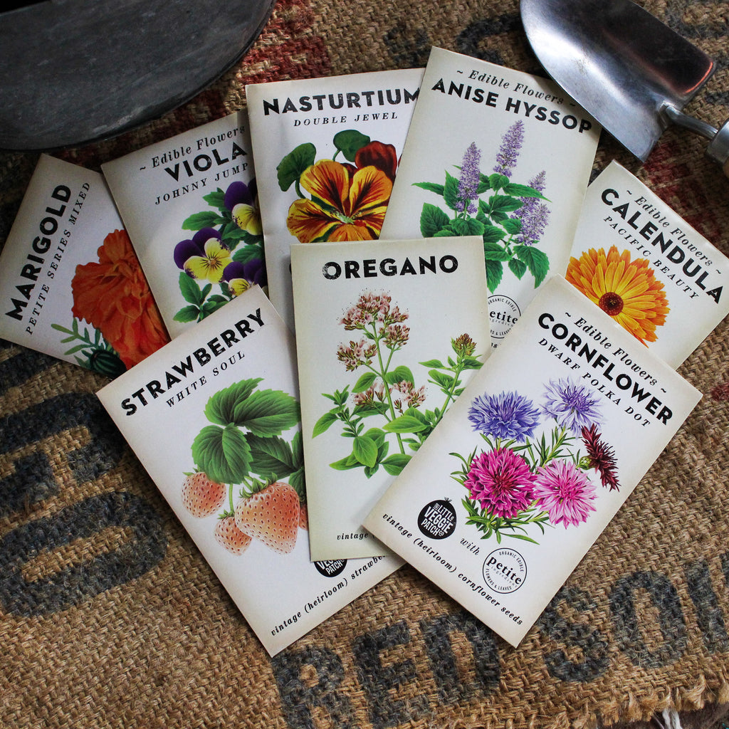 Heirloom Seeds : Herbs & Edible Flowers