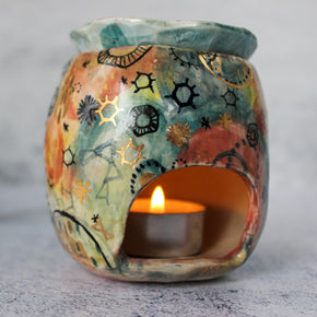 Stars & Cells Porcelain Oil Burner