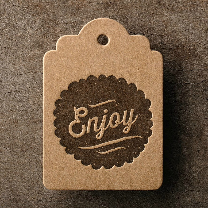 Letterpress Gift Tag: Enjoy