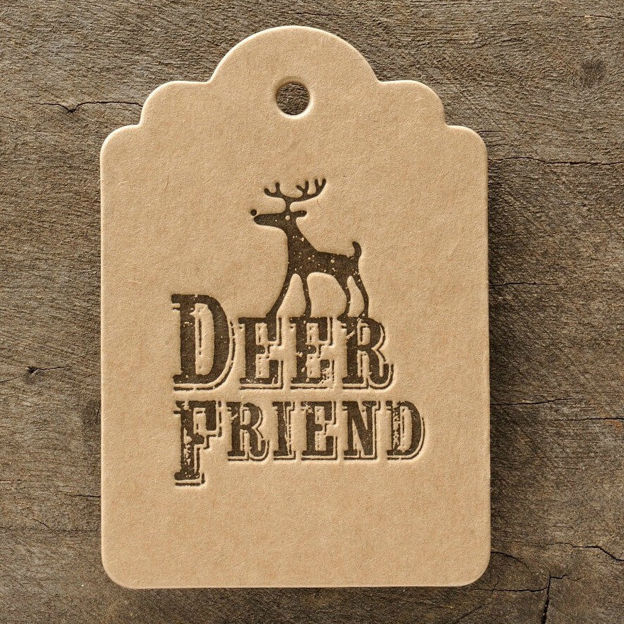 Letterpress Gift Tag: Deer Friend