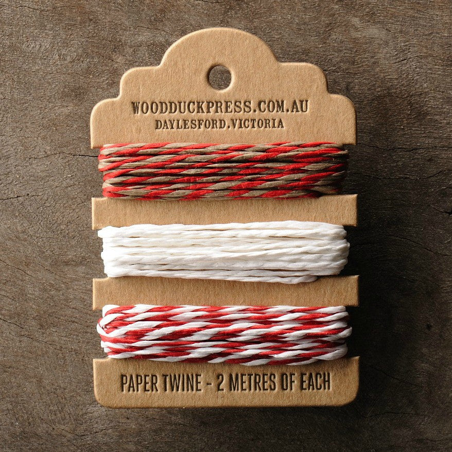 Gift wrapping twine by Wood Duck Press at Tribe Castlemaine