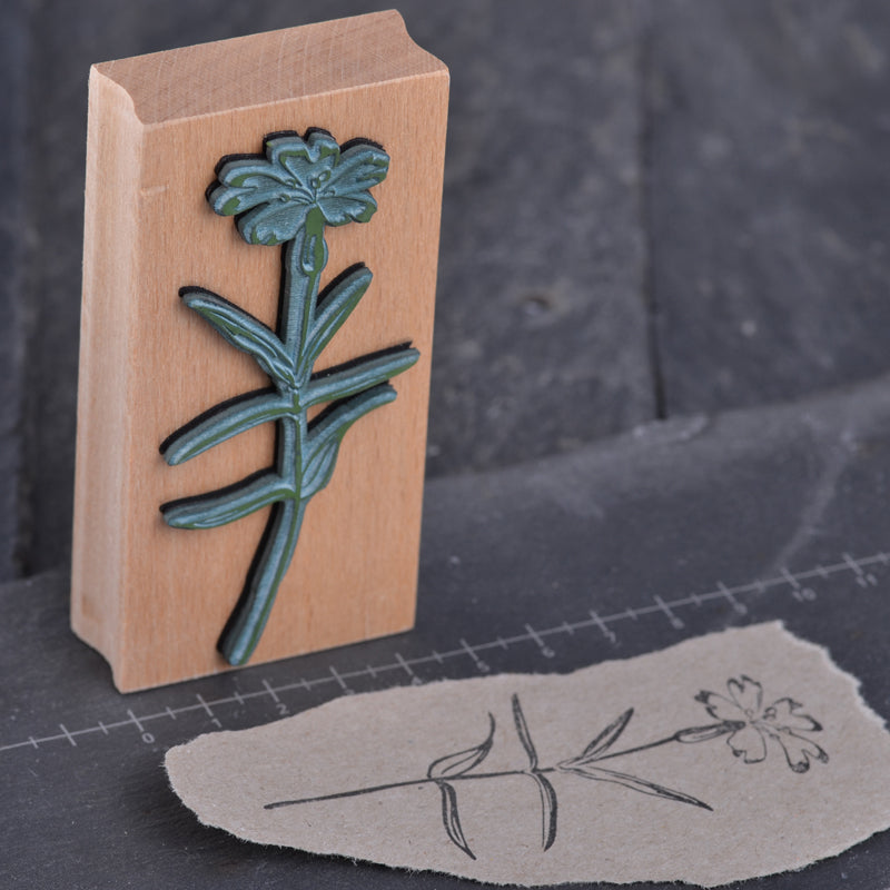 High quality floral rubber stamps for papercraft, journalling, snail mail, DIY stationery handmade by Stempel Jazz available at Tribe Castlemaine