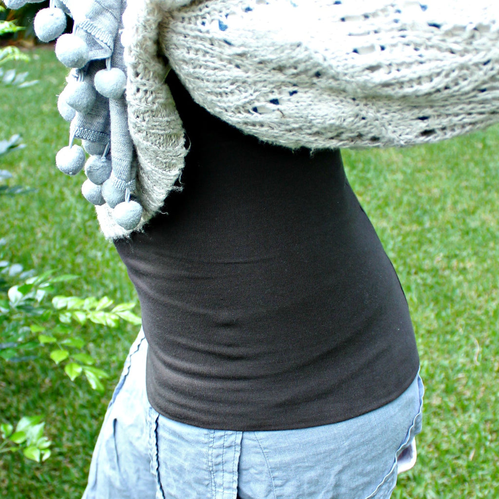 Super cosy winter warmer organic cotton belly warmer kidney warmer handmade by Grandma Said available at Tribe Castlemaine