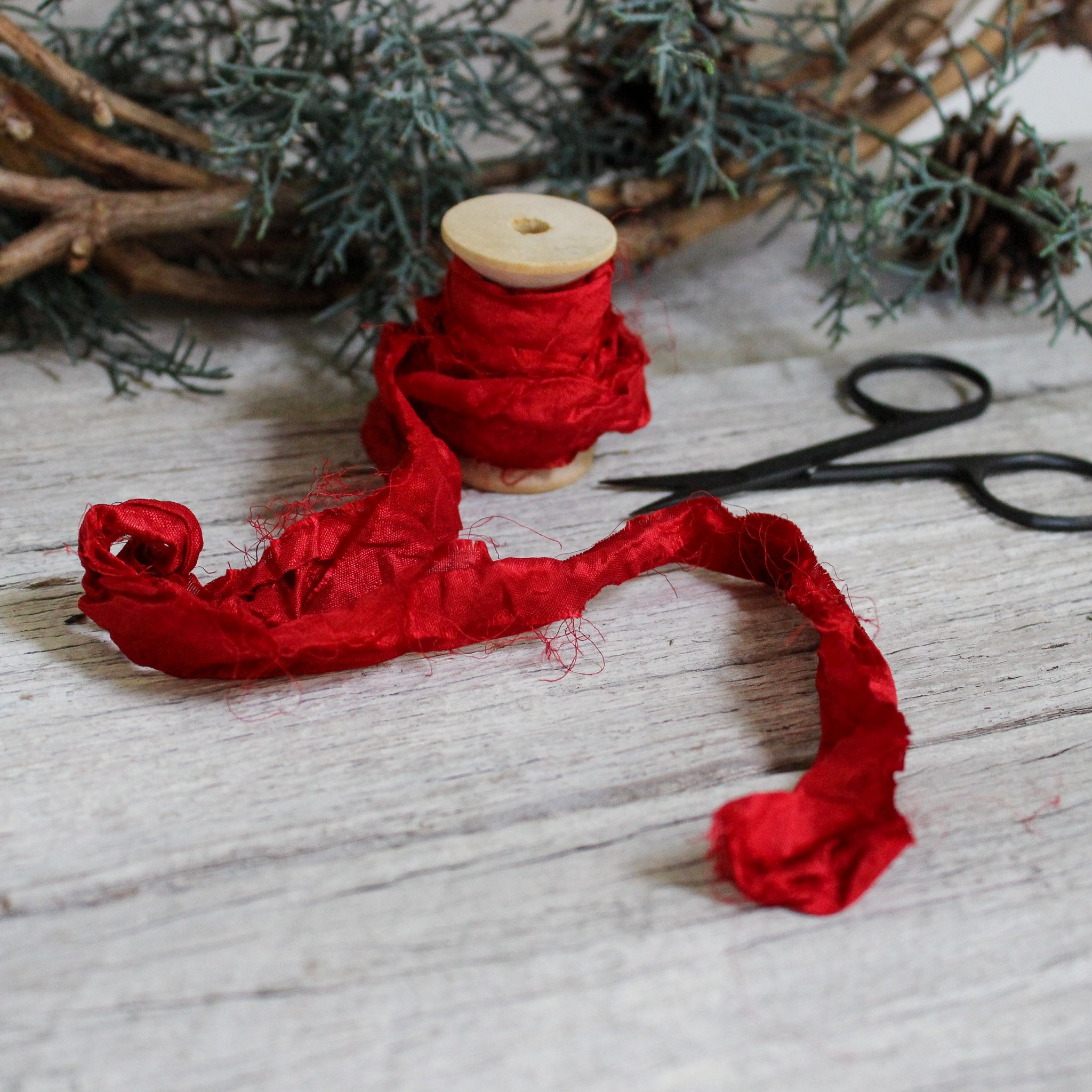 Festive Silk Ribbon