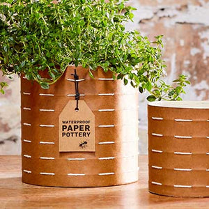 Caloola waterproof paper pots ethically handmade in Sri Lanka available at Tribe Castlemaine