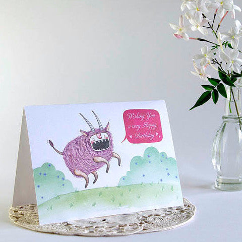 Birthday Ox Greeting Card
