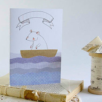 Boat Mouse Greeting Card