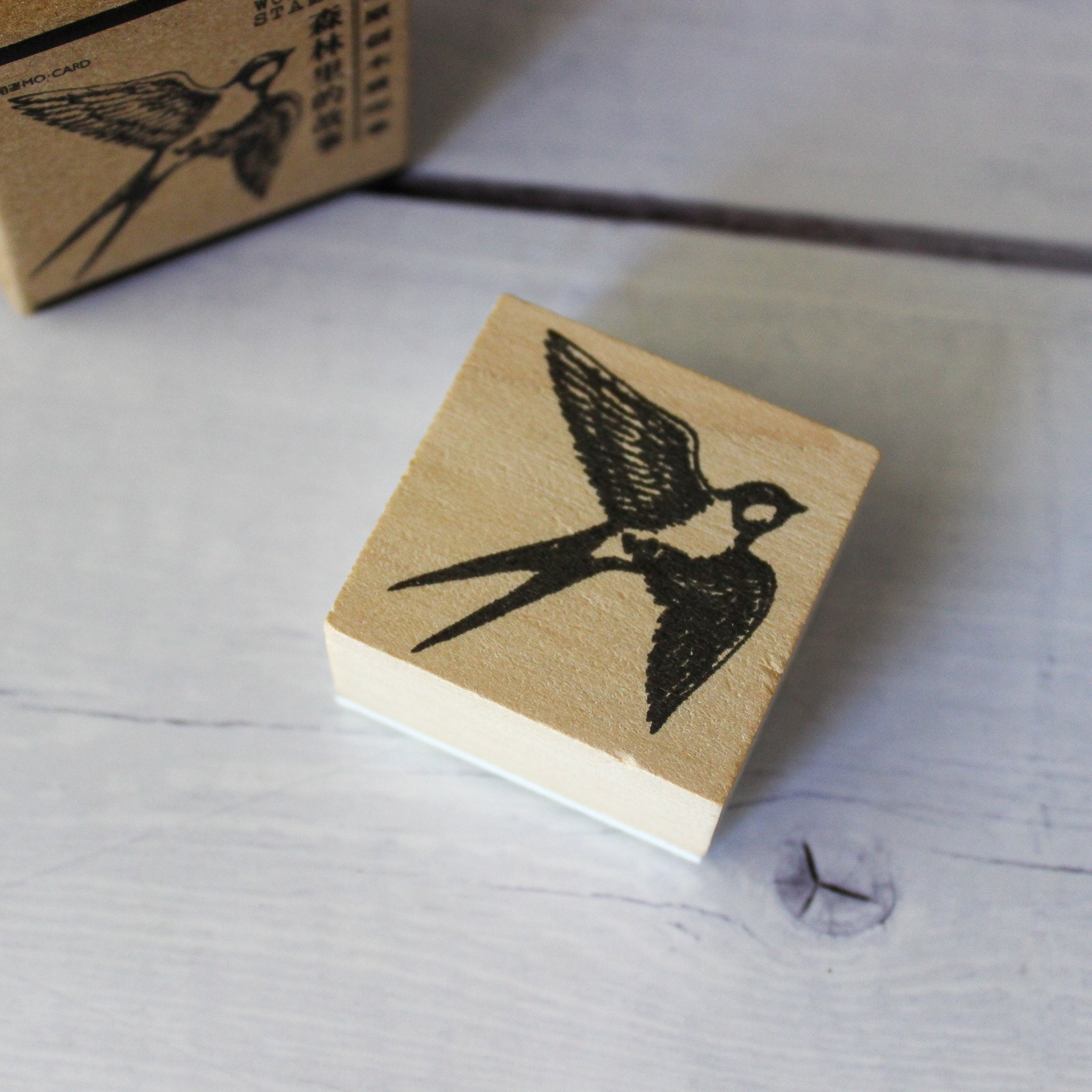 Large Flying Bird Rubber Stamp