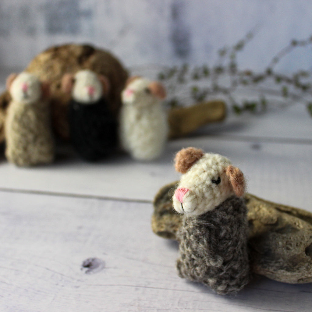Sleepy Knitted Mice