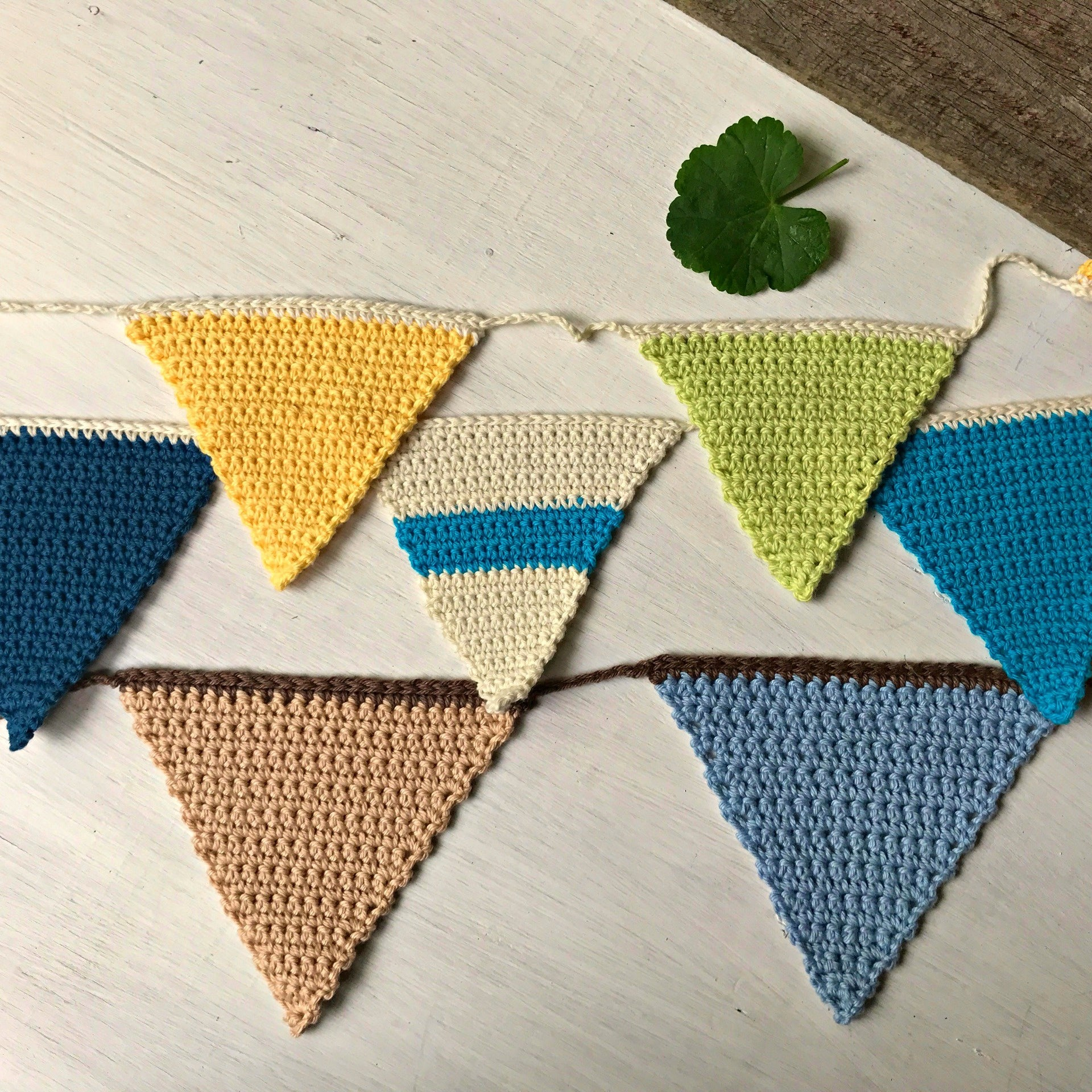 Sweet hand crocheted bunting available at Tribe Castlemaine