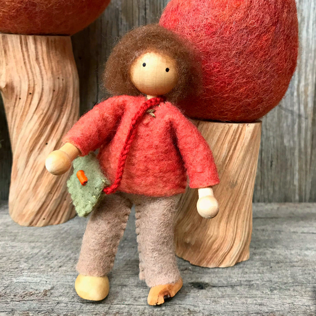 Handmade dolls house family Steiner toys Waldorf toys creative play made in Australia by Elfin Trail available at Tribe Castlemaine