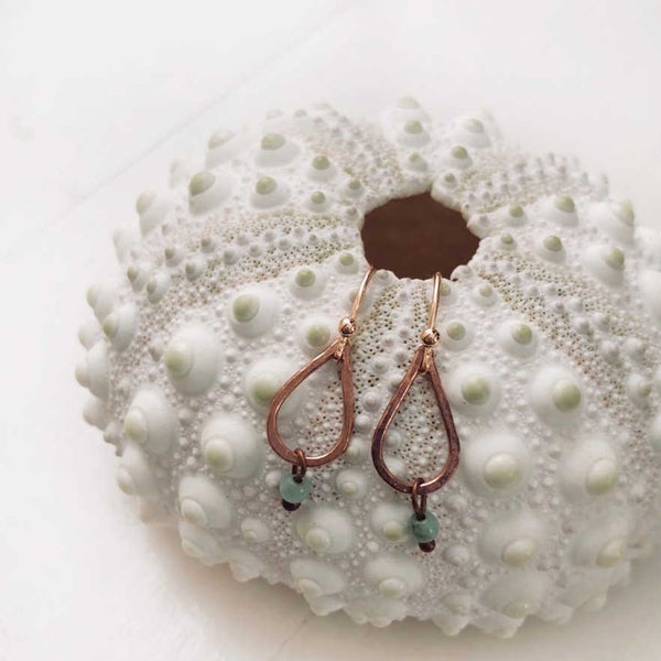 Copper Teardrop Earrings