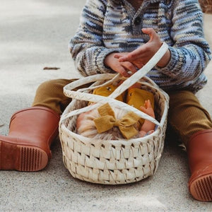 Seagrass Doll Carrier Basket