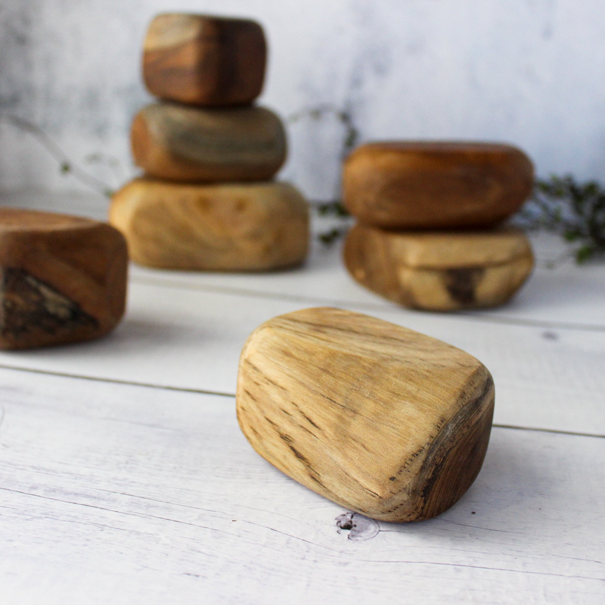 Wooden Flintstone Rocks