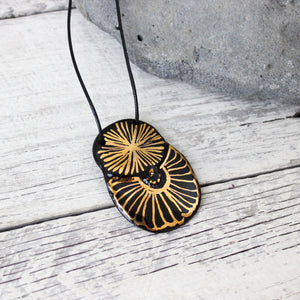 Black and Gold Necklace #1