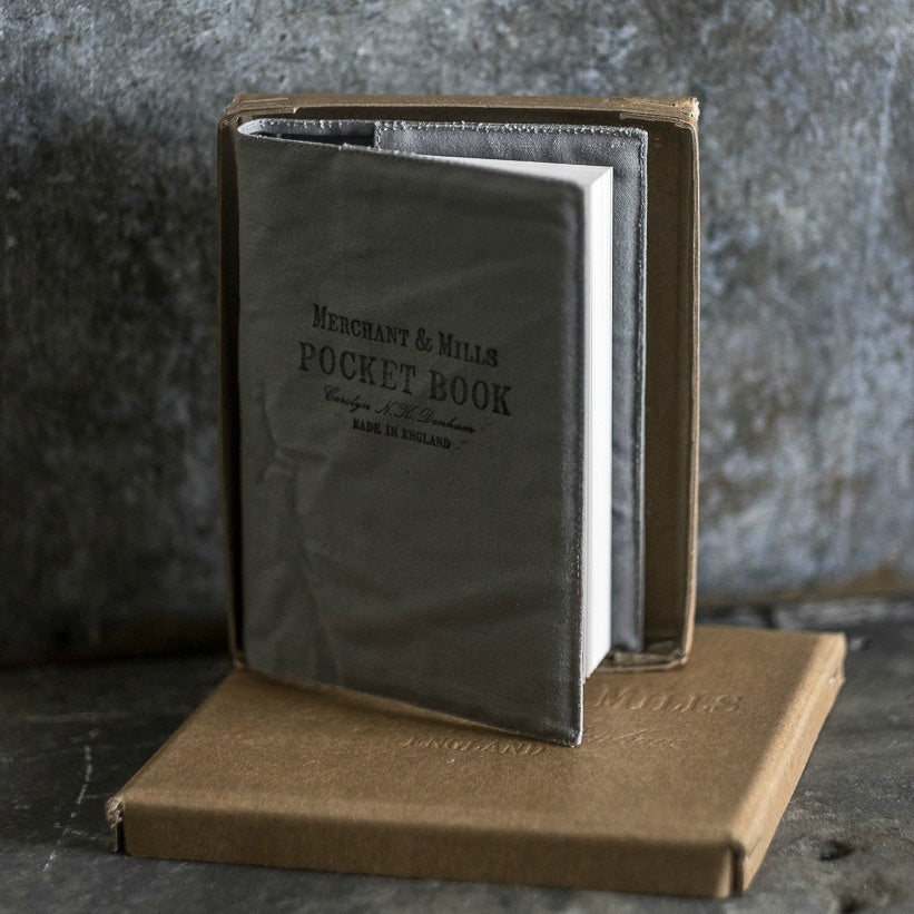 Merchant & Mills handmade pocket book with canvas cover available at Tribe Castlemaine