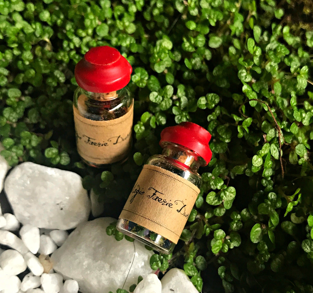 Tiny little bottle of magic fairy dust, faerie dust, for lovers of fairies from Tribe Castlemaine