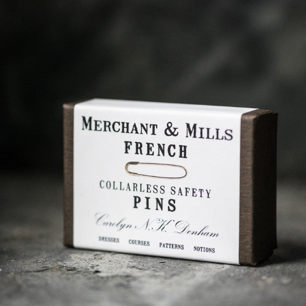 Tiny, traditional French safety pins from Merchant & Mills at Tribe Castlemaine.