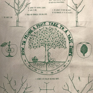 Living naturally with these organic cotton tea towels presenting permaculture messages in a fun and functional way. Made by Good Life Permaculture and available at Tribe Castlemaine