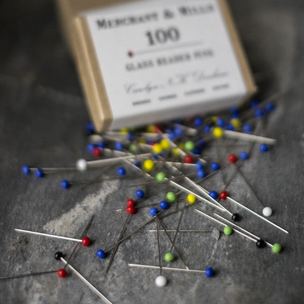 Perfect pinning every time with Merchant & Mills Glass Head Pins at Tribe Castlemaine.