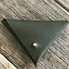 Practical and stylish leather coin purse handstitched from a Hammered Leatherworks kit available at Tribe Castlemaine