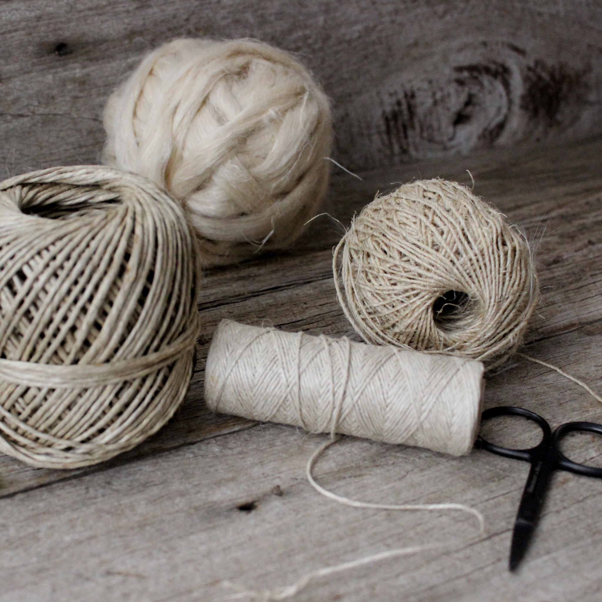 Natural, sustainable hemp fibres for craft at Tribe Castlemaine