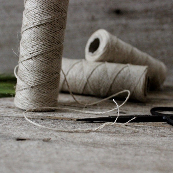 Natural hemp stranded yarn for crochet and craft buy at Tribe Castlemaine