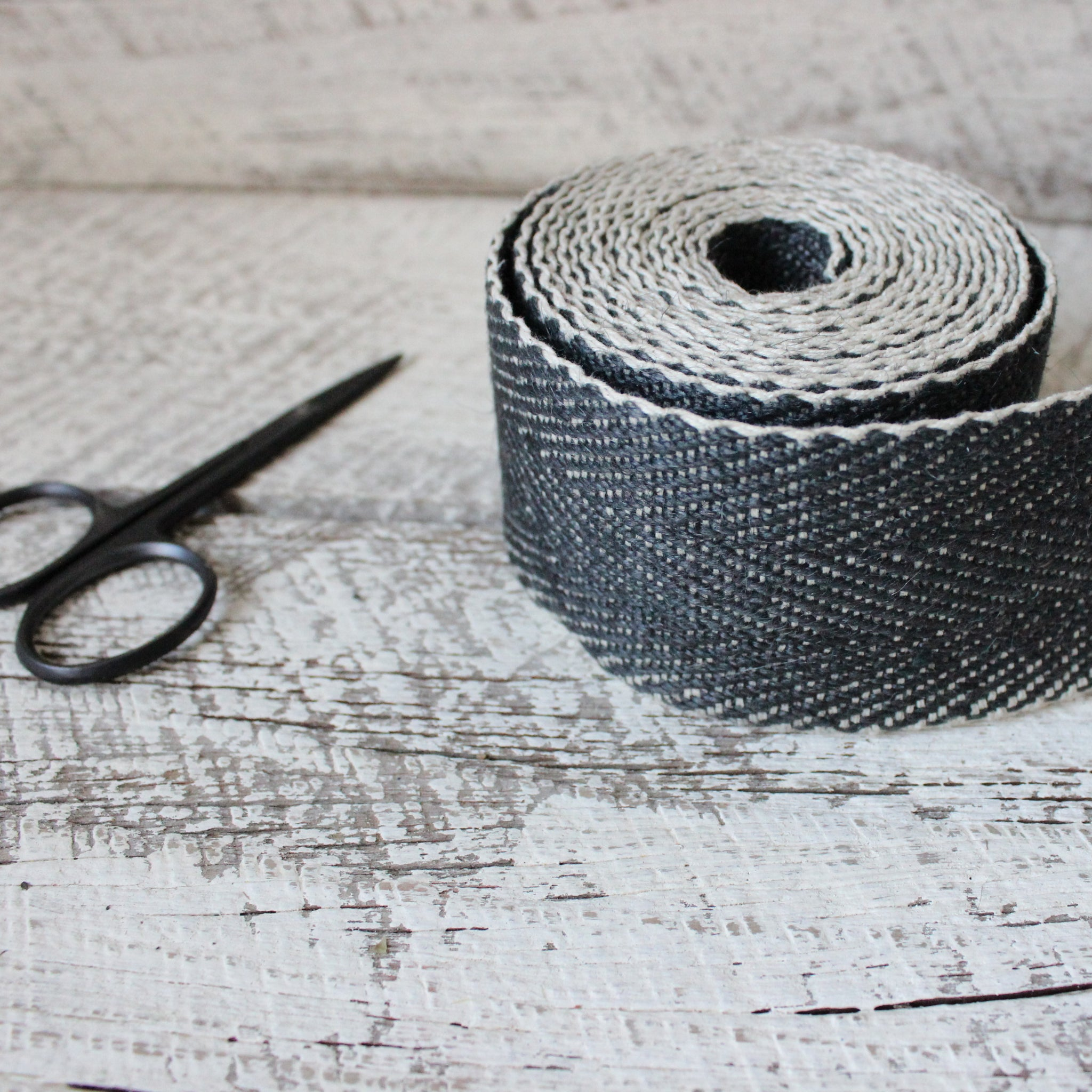 Black herringbone webbing made by Nutscene available at Tribe Castlemaine